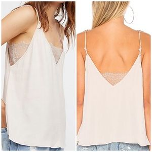 New Free People Lace Inset Bandeau Cami M